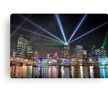 Brisbane at Night Canvas Print
