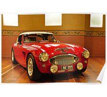 1956 Austin Healey 100 BN Le Mans Poster