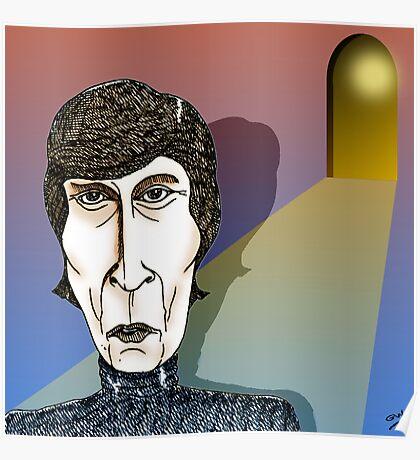 John Lennon Cartoon Caricature Poster