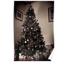 Antique christmas Tree Poster