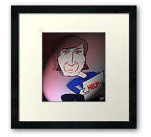 John Lennon Digital Cartoon Caricature Framed Print