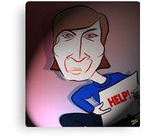 John Lennon Digital Cartoon Caricature Canvas Print