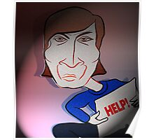 John Lennon Digital Cartoon Caricature Poster