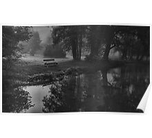 Morning Walk by the River Poster