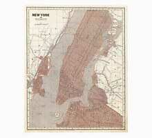 Vintage Map of New York City (1845) 2 Unisex T-Shirt