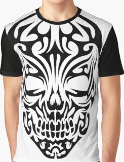 Tribal Skull Graphic T-Shirt
