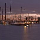 SUNSET OVER THE BOATS by andysax