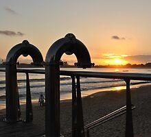 Iconic Mooloolaba Showers at Sunrise by Alex  Jeffery