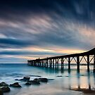 Catherine Hill Bay Silhouette - Panorama by Michael Howard