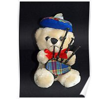 Bagpipes Teddy Poster