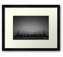 Without Pier 03, St Annes on Sea, Lancashire, UK Framed Print