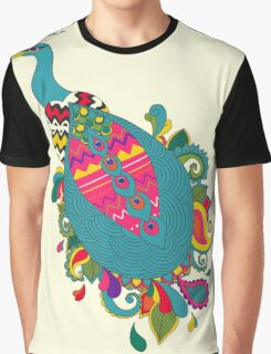 Psychedelic Peacock Graphic T-Shirt