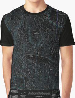 USGS Topo Map Oregon Lehman Springs 20110822 TM Inverted Graphic T-Shirt