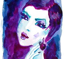 watercolour portrait iPhone case by Anastasiia Kucherenko
