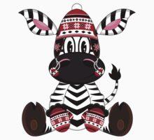 Cute Zebra in Bobble Hat Kids Clothes