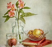 Lillies and apples by Mandy Disher