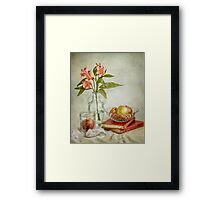 Lillies and apples Framed Print