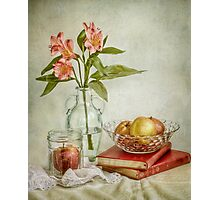 Lillies and apples Photographic Print