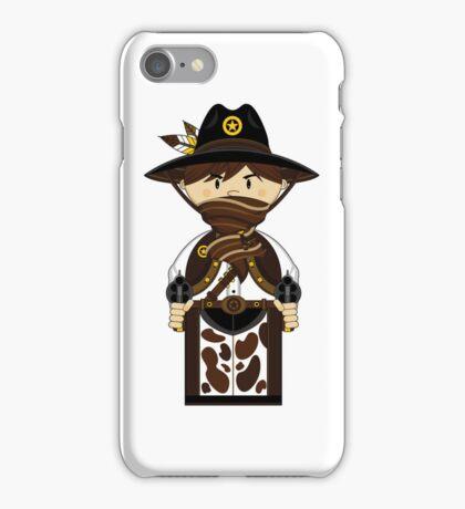 "Cute ""wild West' Cowboy Sheriff iPhone Case/Skin"