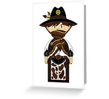 "Cute ""Wild West' Cowboy Sheriff Greeting Card"