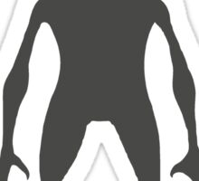 Tall Alien Silhouette Sticker
