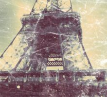 Eiffel Tower, Aged Image Sticker