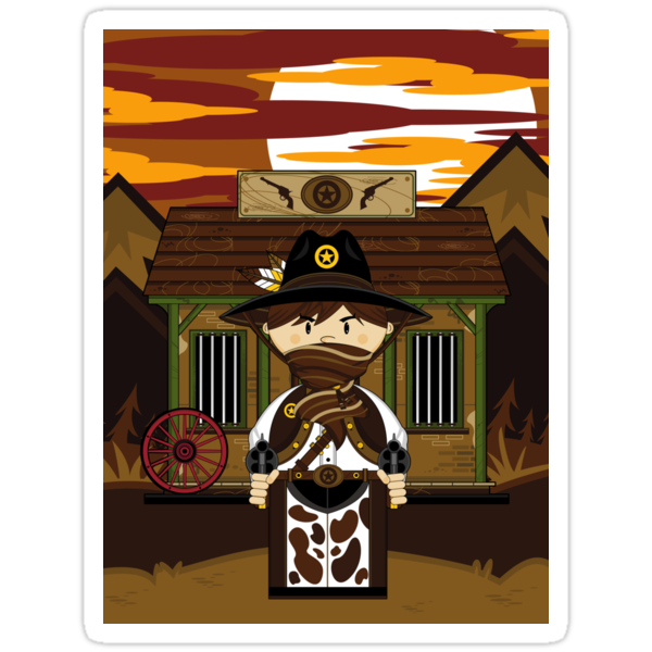Cute Cowboy Sheriff at Jailhouse by MurphyCreative