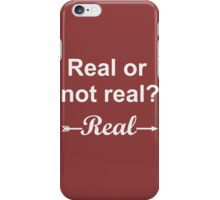 Hunger Games Real or Not Real 2 iPhone Case/Skin