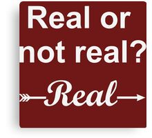 Hunger Games Real or Not Real 2 Canvas Print