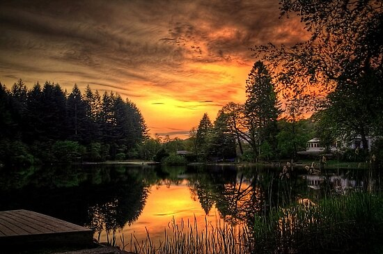Golden Light On Loch Ard by Aj Finan