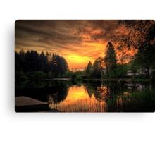 Golden Light On Loch Ard Canvas Print