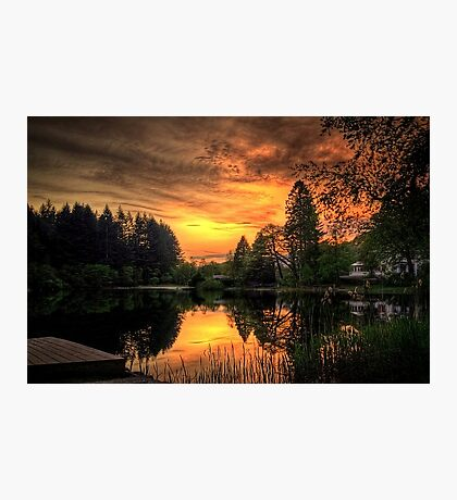 Golden Light On Loch Ard Photographic Print
