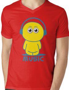 Music Dude Mens V-Neck T-Shirt