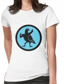 Pigeon Skank Womens Fitted T-Shirt
