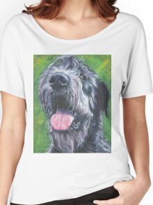 Irish Wolfhound Fine Art Painting Women's Relaxed Fit T-Shirt