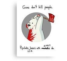 guns don't kill people - blood Canvas Print