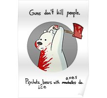 guns don't kill people - blood Poster