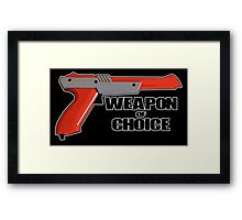 Zapper - Weapon of choice Framed Print