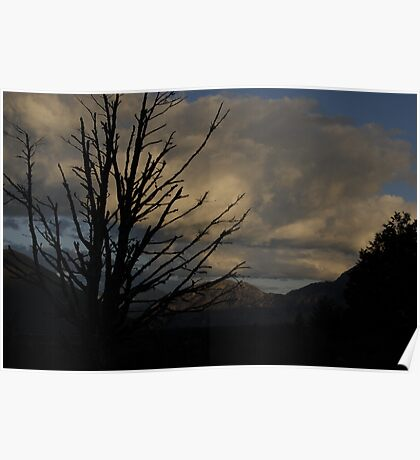 New Zealand Dusk over mountains Poster