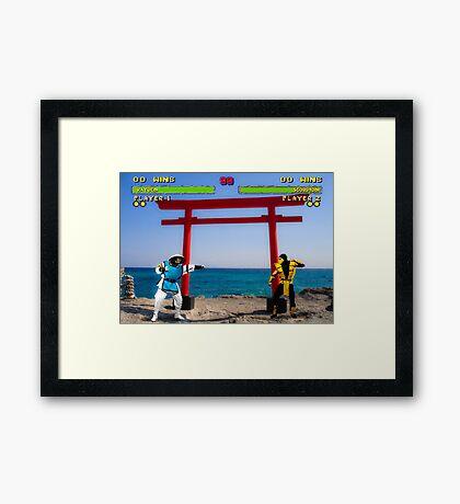 HD Kombat Framed Print