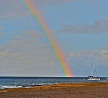 Sailboat rainbow by bamorris