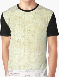 USGS Topo Map Oregon Groundhog Mountain 280109 1986 24000 Graphic T-Shirt