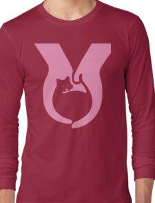 Pink Cat Helping Hands Long Sleeve T-Shirt