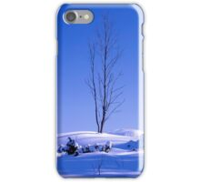 Lonely tree in winter iPhone Case/Skin