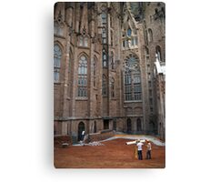 surveying sagrada familia in barcelona Canvas Print