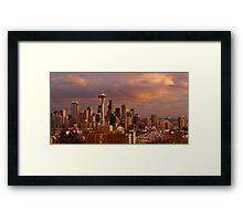 Cloudscrapers Framed Print