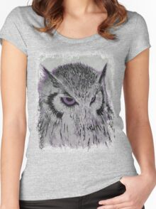 Violet Owl Women's Fitted Scoop T-Shirt