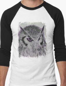 Violet Owl Men's Baseball ¾ T-Shirt