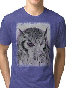 Violet Owl Tri-blend T-Shirt