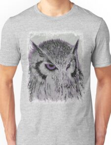 Violet Owl Unisex T-Shirt